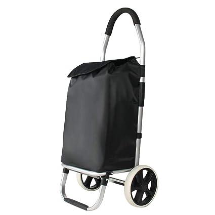 Carrito de compras plegable 2 ruedas Ligero Push Pull Bolsa de carrito de compras Equipaje Carrito