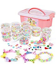 2000PCS Pop Beads - DIY Jewelry Making Kit with Storage Box Bead Set Bracelets Necklaces Hairband Art and Craft Creativity Toys for Kids Girls