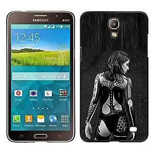 [Neutron-Star] Snap-on Series Teléfono Carcasa Funda Case Caso para Samsung Galaxy Mega 2 [Sexy Lingerie Woman Black Tattoo Biker]