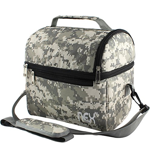 Nex Lunch Bag Fabric Double Decker Cooler Lunch Box Insulated Lunch Bag with Zip Closure (Camouflage-2) – DiZiSports Store