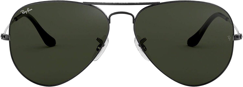 Ray-Ban Aviator Large Metal, Gafas de Sol Unisex Adulto, Plateado (W0879 Gunmetal), 58