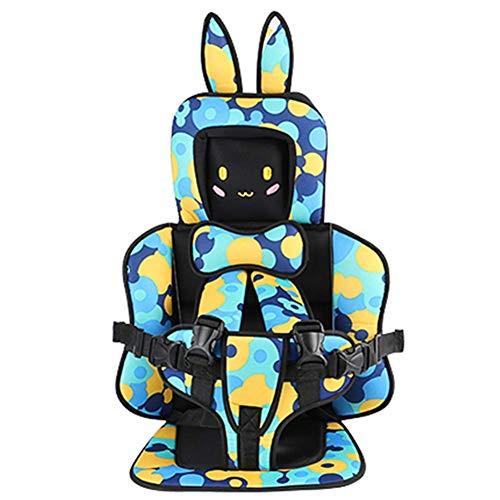 AMILIEe Child Baby car seat Protector, 2-in-1 Harness Booster Car Seat, Travel Car Seat, Fix High Back Booster for 9 Month-12 Years Old (Camouflage, Rabbit)