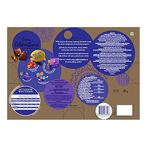 Cadbury Celebrations Premium Assorted Chocolate Gift Pack, 281 g 6