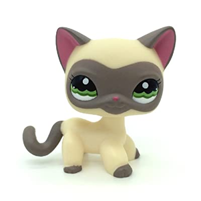 are Littlest Pet Shop Cream Gray Masked Short Hair Cat Kitty LPS #1116: Toys & Games