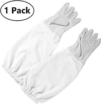 1 Pair Beekeeping Gloves XL Goatskin durable Vented Beekeeper Long Sleeves