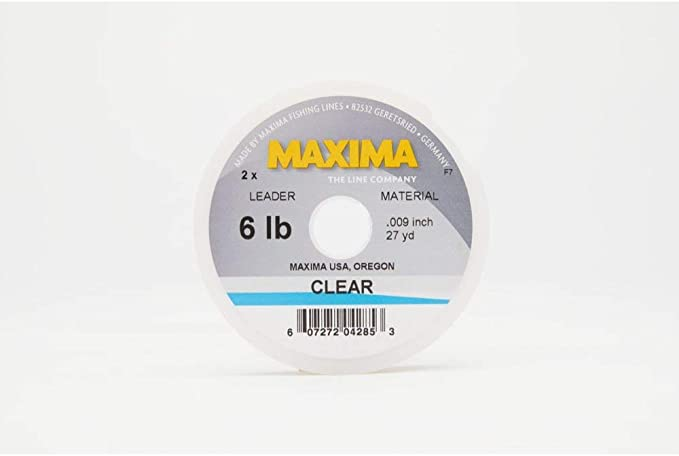 NEW MAXIMA CLEAR LEADER MATERIAL 20LB 27YD SPOOL fly fishing durable invisible