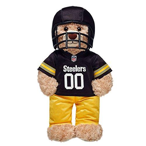 Pittsburgh Steelers Teddy Bear - Build A Bear Workshop Pittsburgh Steelers Fan Set 3 pc.