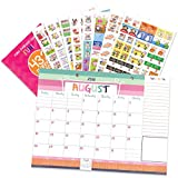 2018-2019 Monthly Desk Calendar + Event Stickers Variety Set (Total of 432 Stickers) with Tear-Off Lists, Scheduling Tools, Bill Pay Worksheet and More (Bundle of 2 Items)