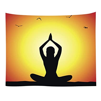 Luxsea Yoga creative tapestry wall hangings wall beach towel sitting blanket