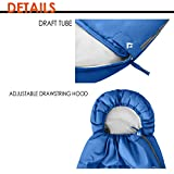 KingCamp Envelope Sleeping Bag 3 Season Spliced Adult Portable Lightweight And Comfort With Compression Sack Camping Backpack Temp Rating 26F 3C