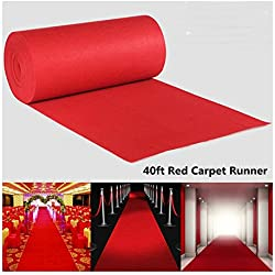40ftX3ft Large Red Carpet Wedding Aisle Floor Runner Hollywood Party Decor US
