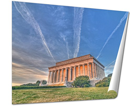 Ashley Giclee Fine Art Print, Lincoln Monument HDr, 16x20, - Sunrise Is Mall Where