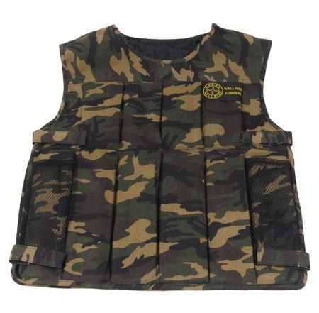 WELL Fire Combat Tactical Vest Camo Airsoft Gun Accessory