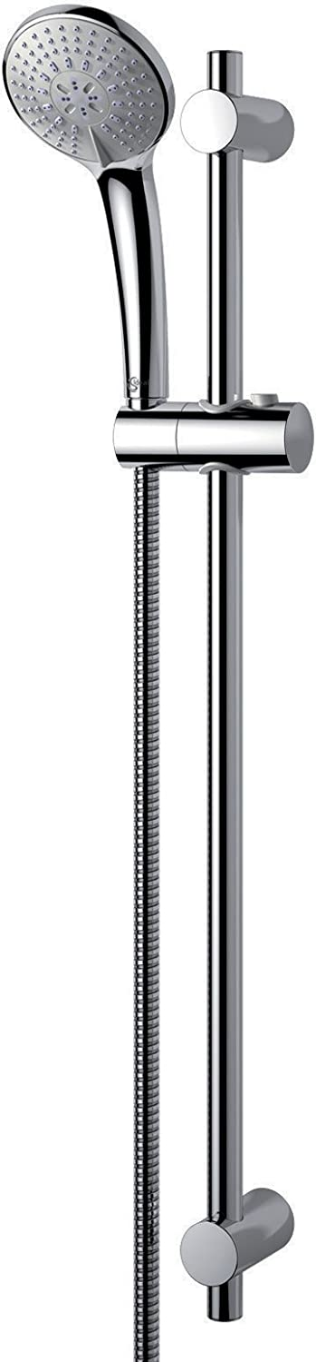 Ideal Standard B9508AA Series M3  SMART 720-mm shower riser rail with 100-mm diameter shower head. Chrome finish