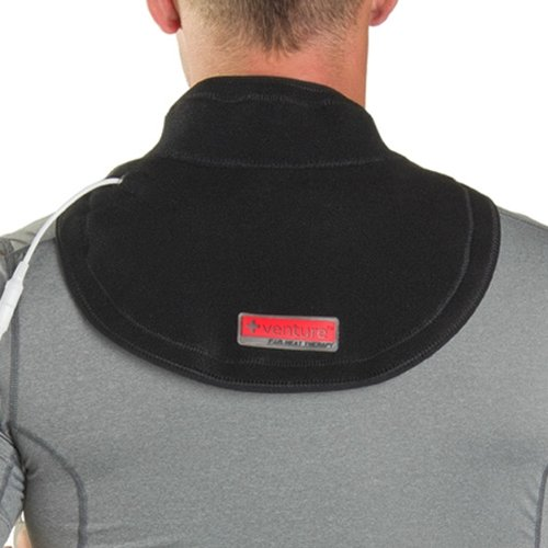Dispenser Custom Panel (Venture Heated Clothing KB-1270 REG Black Regular 12V Heated Neck Therapy Wrap with Temperature Controller and 12V Adapter)