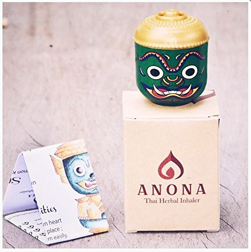Anona Inhaler Tube Ramayana Tossakan Model For Inhalation Aroma of Natural Herbals for Relaxation and Refreshment Premium Souvenir in Thailand