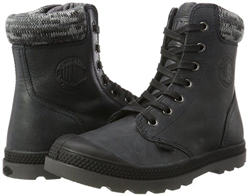 Palladium Para Zapatillas F forged Mujer Iron Altas Lp black Knit Pampa Negro rHq1nB6r