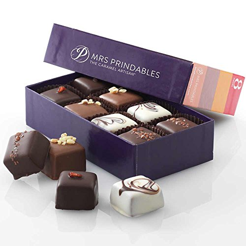 Assorted Eight-Piece Natural Chocolate Covered Caramels by Mrs. Prindable's