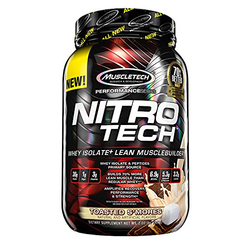 Muscletech nitro tech whey isolate protein toasted s 39 mores 2 pounds everything creatine - Nitro tech isolate ...