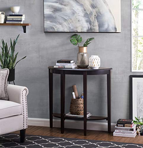 2L Lifestyle B12300003-P Shelburne Accent Console Table, Small, Brown (Moon Half Tables Accent)