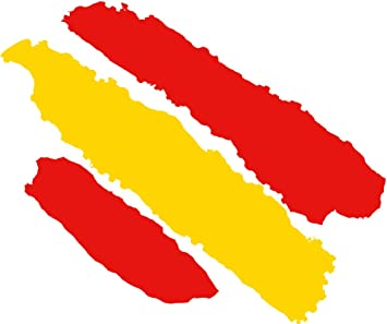 Artimagen Pegatina Bandera Trazos España 80x60 mm.: Amazon.es ...