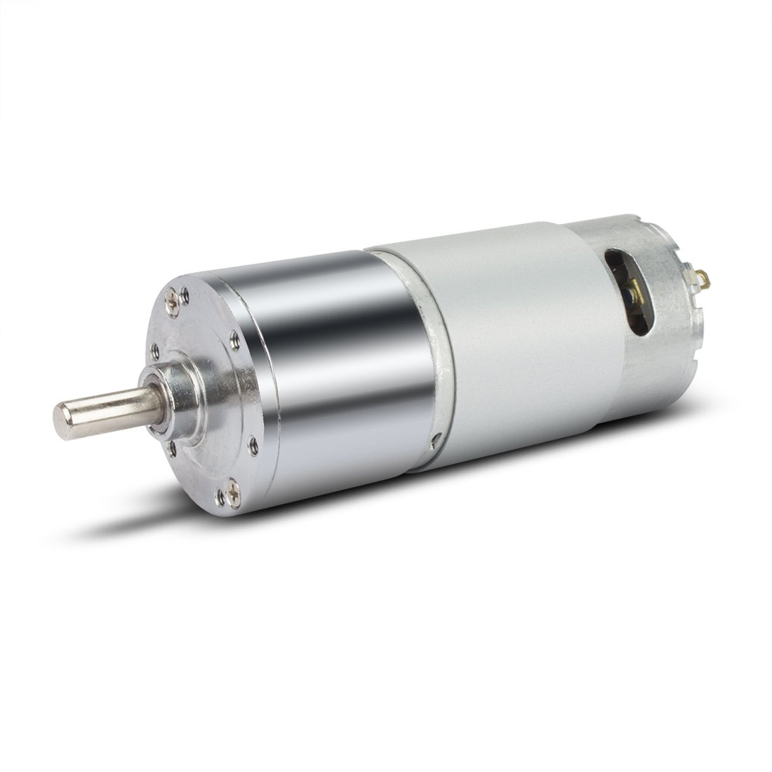 uxcell 60RPM DC 12V Micro Gear Box Motor Speed Reduction Electric Gearbox Eccentric Output Shaft with 6mm Diameter, 15mm Length, M3 Hole Size