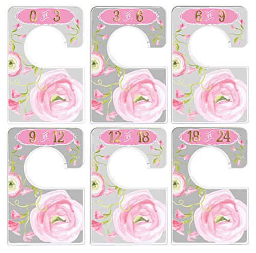Mumsy Goose Baby Girl Clothes Dividers Nursery Closet Dividers Floral