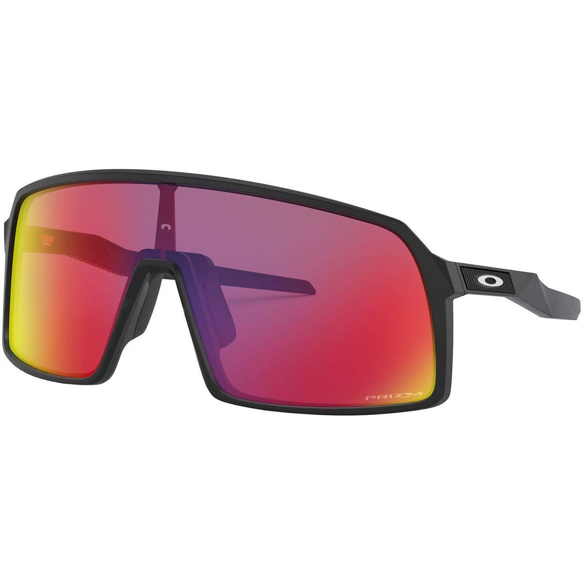 Oakley Men's OO9406 Sutro Shield Sunglasses, Matte Black/Prizm Road, 37 mm by Oakley