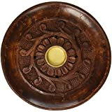 "Accessories - Round Burners Wooden Carved ""Vines"" Incense Burner, Cones or Sticks, 4"" L"