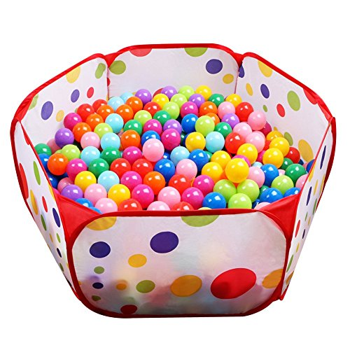 FocuSun Playpen Ball Pit, 39.4-inch by 19.7-Inch with Zippered Storage Bag