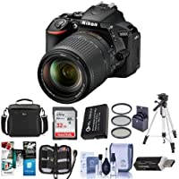 Nikon D5600 DSLR Camera Kit with AF-S DX NIKKOR 18-140mm f/3.5-5.6G ED VR Lens, Black - Bundle With Camera Case, 32GB SDHC Card, 67mm Filter Kit, Spare Battery, Tripod, Software Package And More