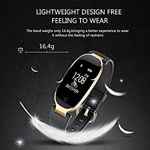 WOWGO Fitness Tracker, Women Sport Tracker Smart Watch Band Bracelet, Heart Rate Monitor Smart Bracelet,Wristband Watch with Health Sleep Activity Tracker Pedometer for Smart Phone