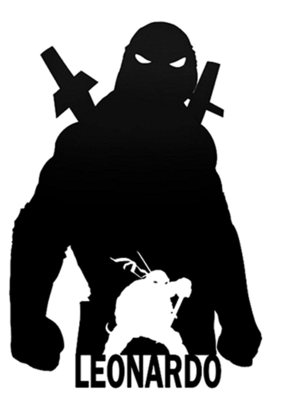 Amazon.com: TMNT LEONARDO SILHOUETTE TEENAGE MUTANT NINJA ...