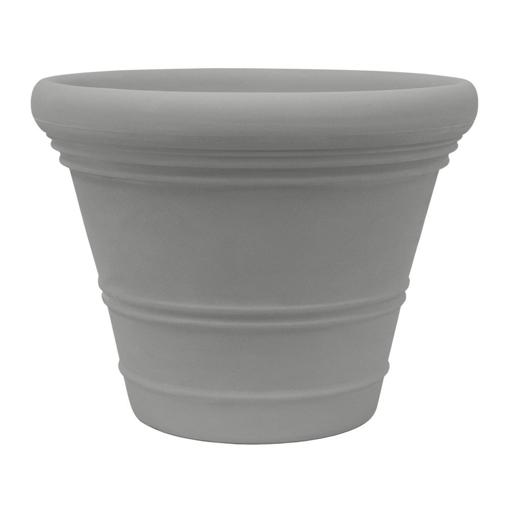 Planters Online AN28MGGS 28'' Resin Ancona Planter, Large, Grey Stone