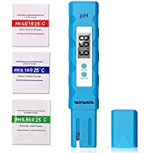 Digital PH Meter, 0.01 PH High Accuracy Tester with 3x pH Buffer Powders for Household Drinking Water, Aquarium, Pool & Hydroponics 0-14 pH Measuring Range PH Meter (Blue)