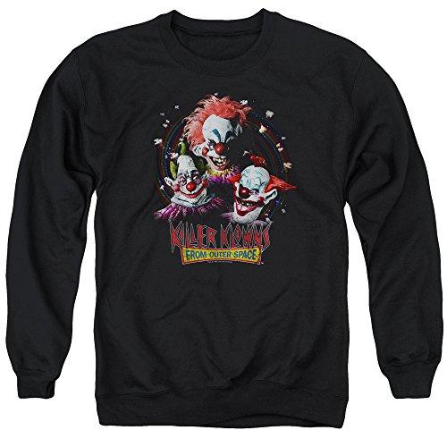 Killer Klowns from Outer Space Film Killer Klowns Adult Crewneck Sweatshirt Black]()