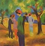 August Macke A Woman In Green Jacket 30x31 [Kitchen]
