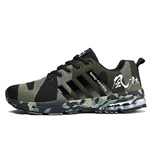 Militares Zapatos Casuales Ejército Hombres Wddgpzydx 46 Verdes FSxfSOgqw0