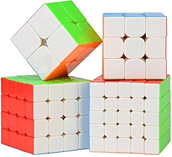 D ETERNAL Abs Plastic Rubiks High Speed Stickerless Magic Brainstorming Puzzle Rubick-Cube - Combo set of 4 (2x2 3x3 4x4 5X5 Cubes) (Multicolour) 3-D Puzzles at amazon
