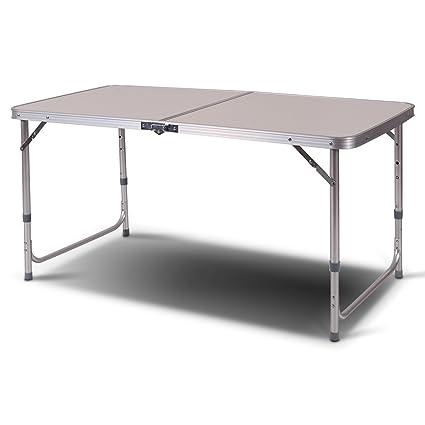 amazon com giantex 2 x4 height adjustable folding table aluminum