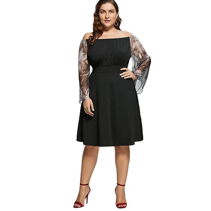 SKM Women Plus Size Dress, New Fashion Vintage 1950s Dresses Off ...
