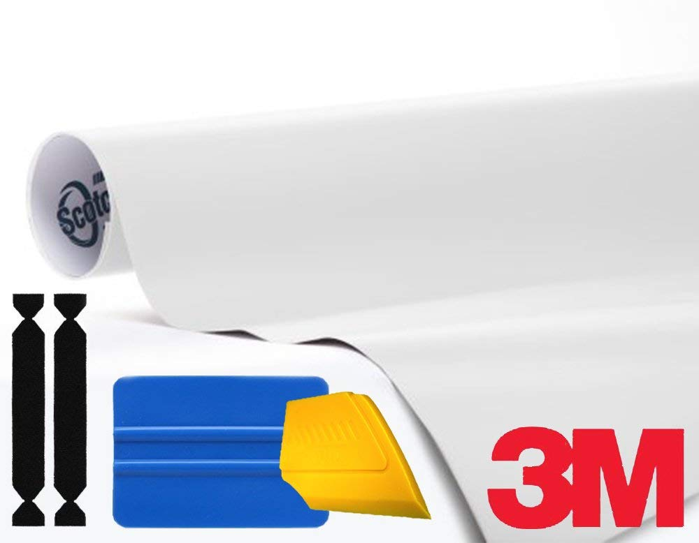 3M 1080 Satin White Air-Release Vinyl Wrap Roll Including Toolkit (1ft x 5ft)