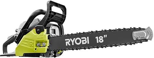 Ryobi Gas Chainsaw 2 Cycle Heavy Duty Case Antivibration Handle Power Tool 20 in