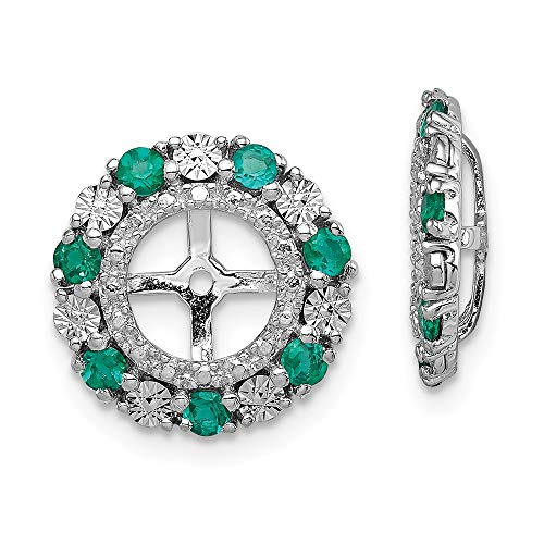 925 Sterling Silver Created Green Emerald Earrings Jacket Birthstone May Fine Jewelry Gifts For Women For - Emerald Jacket Womens