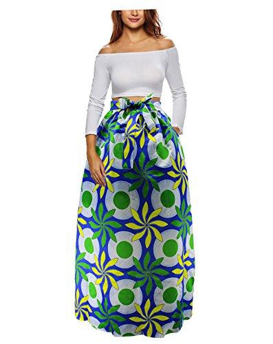 2a7d30625a6 30 Styles Skirts Women African Printing Maxi Skirt Glamorous Skirt High  Waist Long Skirt Beach