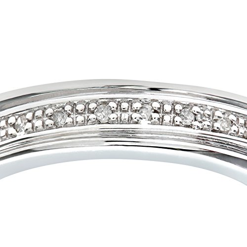 Alliance Femme - Or blanc (9 cts) 3.5 Gr - Diamant 0.004 Cts