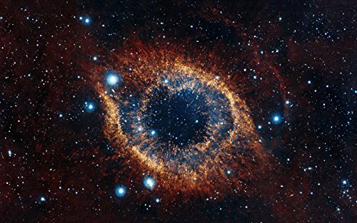 Helix Nebula Space Astrology Fabric Cloth Rolled Wall Poster Print