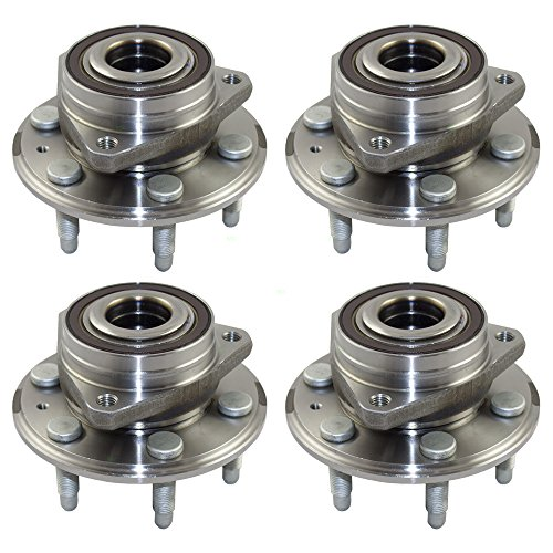 4 Piece Set Front / Rear Wheel Hub Bearing Assembly Replacement for Cadillac SRX Saab 9-4X 13589508 HA590393 513289 (4 Piece Bearing)