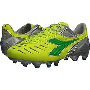 Diadora Women's Maracana L Soccer Cleat Shoes, Yellow Flou/Lime/Royal, 9.5 M US