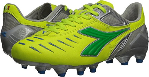 Diadora Women's Maracana L Soccer Cleat Shoes, Yellow Flou/Lime/Royal, 10.5 M (Diadora Soccer Gear)